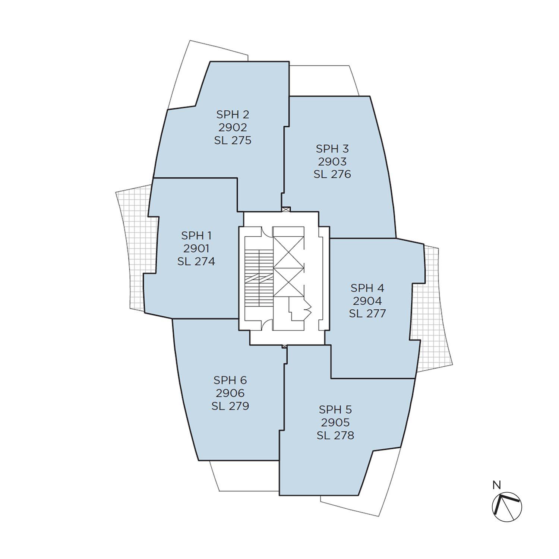 Azure floorplate level 29