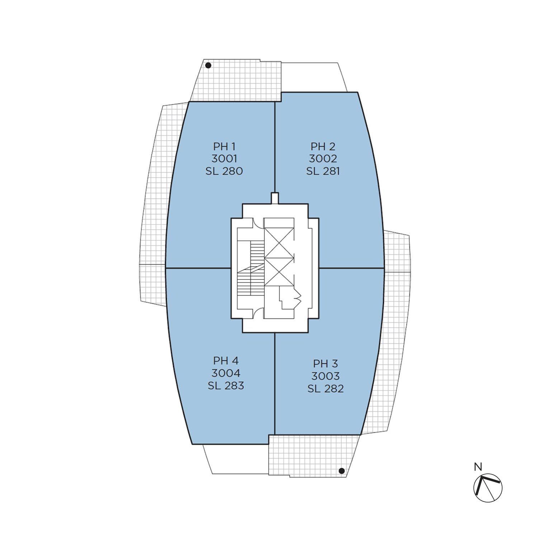 Azure floorplate level 30