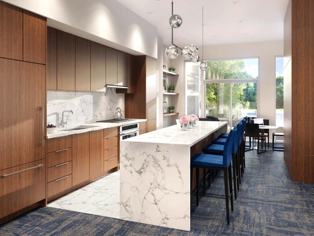 Azure lounge kitchen